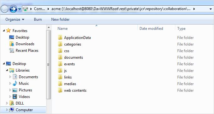 9 8  Using WebDAV